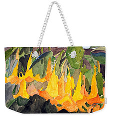 Angel Trumpets Weekender Tote Bag
