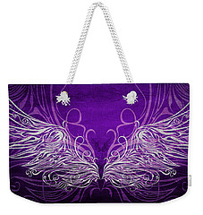 Angel Wings Royal Weekender Tote Bag by Angelina Vick