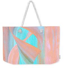 Weekender Tote Bag featuring the digital art Angelfish by Stephanie Grant