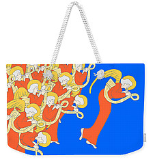 Weekender Tote Bag featuring the digital art Angelic Chorale Of Horns by Donna Huntriss