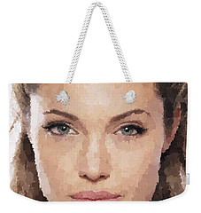 Angelina Jolie Portrait Weekender Tote Bag