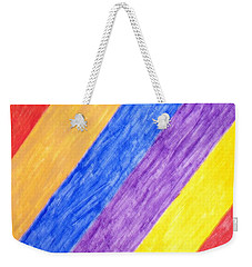 Weekender Tote Bag featuring the painting Angles by Stormm Bradshaw