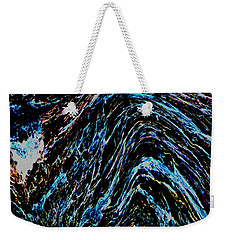 Weekender Tote Bag featuring the photograph Angry Sea by Stephanie Grant