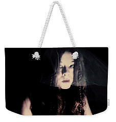 Weekender Tote Bag featuring the photograph Angry With You  by Jessica Shelton