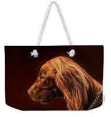 Angus Irish Red Setter Weekender Tote Bag by Wallaroo Images