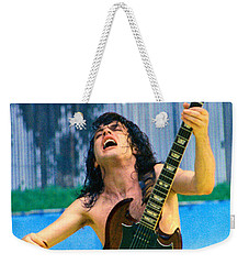 Angus Young Of A C D C At Day On The Green Monsters Of Rock  7-21-79  Weekender Tote Bag