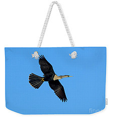 Anhinga Female Flying Weekender Tote Bag by Anthony Mercieca