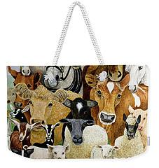 Animal Allsorts Oil On Canvas Weekender Tote Bag