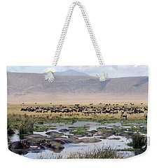 Weekender Tote Bag featuring the photograph Animal Paradise Africa by Tom Wurl
