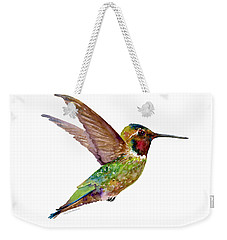 Anna Hummingbird Weekender Tote Bag by Amy Kirkpatrick