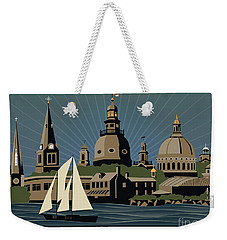 Annapolis Steeples And Cupolas Serenity With Border Weekender Tote Bag