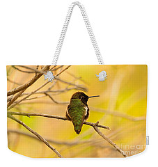 Weekender Tote Bag featuring the photograph Anna's Glow  by John F Tsumas