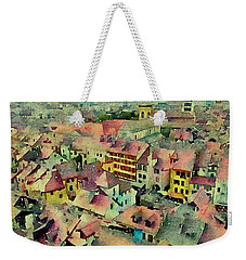 Weekender Tote Bag featuring the photograph Annecy Rain by Susan Maxwell Schmidt