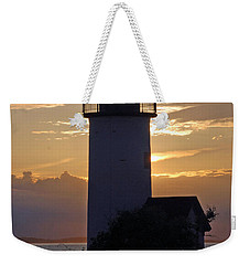 Annisquam Lighthouse Sunset Weekender Tote Bag