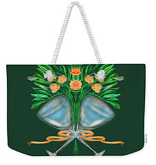 Weekender Tote Bag featuring the digital art Anniversary Bouquet by Christine Fournier