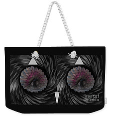 Weekender Tote Bag featuring the mixed media Ann's Owl 1 by Ann Calvo