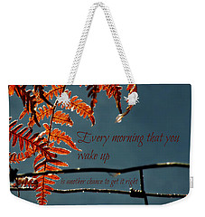 Another Chance Weekender Tote Bag by Micki Findlay