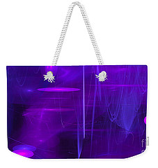 Weekender Tote Bag featuring the digital art Another Dimension by Victoria Harrington