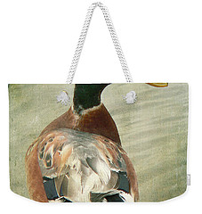 Weekender Tote Bag featuring the photograph Another Duck ... by Chris Armytage