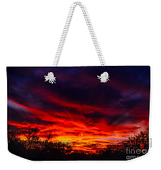 Weekender Tote Bag featuring the photograph Another Tucson Sunset by Mark Myhaver