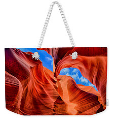 Weekender Tote Bag featuring the photograph Antelope Canyon Walls by Greg Norrell