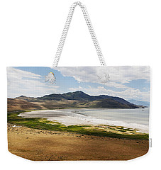 Weekender Tote Bag featuring the photograph Antelope Island by Belinda Greb