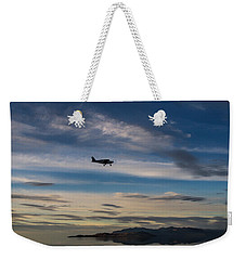 Weekender Tote Bag featuring the photograph Antelope Island - Lone Airplane by Ely Arsha
