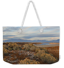 Weekender Tote Bag featuring the photograph Antelope Island - Scenic View by Ely Arsha