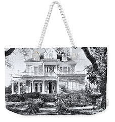 Anthemion At 4631 St Charles Ave. New Orleans Sketch Weekender Tote Bag by Kathleen K Parker