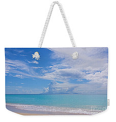 Antigua View Of Montserrat Volcano Weekender Tote Bag