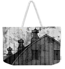 Antique Barn - Black And White Weekender Tote Bag