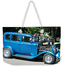 Antique Blue Car Weekender Tote Bag