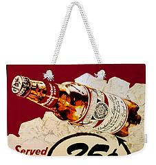 Antique Budweiser Signage Weekender Tote Bag