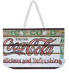 Antique Coca Cola Sign  Weekender Tote Bag by Chris Flees