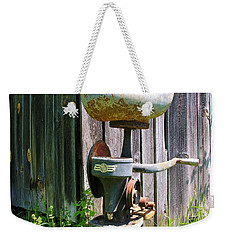Weekender Tote Bag featuring the photograph Antique Cream Separator by Sherman Perry
