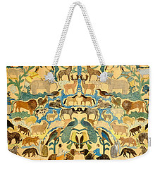 Antique Cutout Of Animals  Weekender Tote Bag by American School