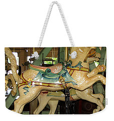 Antique Dentzel Menagerie Carousel Cat Weekender Tote Bag