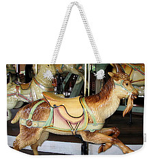 Weekender Tote Bag featuring the photograph Antique Dentzel Menagerie Carousel Goat by Rose Santuci-Sofranko