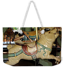 Weekender Tote Bag featuring the photograph Antique Dentzel Menagerie Carousel Pigs by Rose Santuci-Sofranko