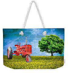 Antique Farmall Tractor Weekender Tote Bag by Fred Larson
