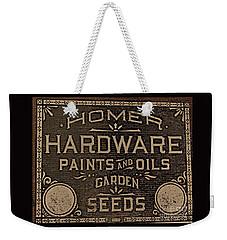 Antique Homer Hardware Weekender Tote Bag