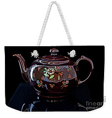 Antique Native American Teapot On Black Art Prints Weekender Tote Bag