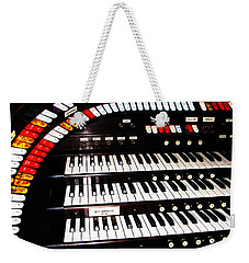 Weekender Tote Bag featuring the photograph Antique Organ by Marcia Socolik