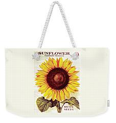 Antique Sunflower Seeds Pack Weekender Tote Bag by Peter Gumaer Ogden