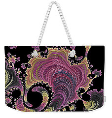 Weekender Tote Bag featuring the digital art Antique Tapestry by Susan Maxwell Schmidt