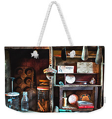 Weekender Tote Bag featuring the photograph Antique Things by Alana Ranney
