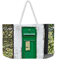 Weekender Tote Bag featuring the photograph Antique Victorian Mail Box In Ireland by Jane McIlroy