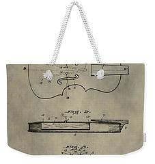 Antique Violin Patent Weekender Tote Bag by Dan Sproul