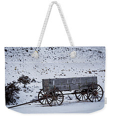 Weekender Tote Bag featuring the photograph Antique Wagon by Michael Chatt