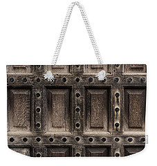 Antique Wooden Door Closeup Weekender Tote Bag